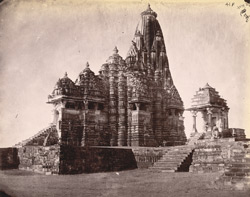 General view from the north-east of the Kandariya Mahadeo Temple, Khajuraho